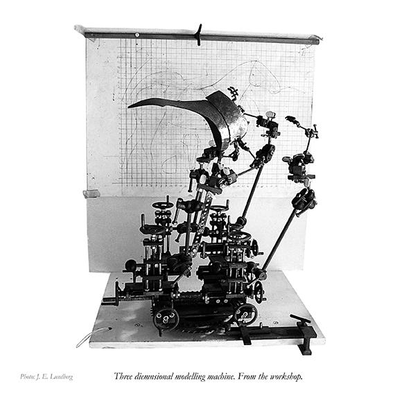 "Erik Sparres model-maskine. ""Modelling machine"". Photo: Jon Eirik Lundberg"
