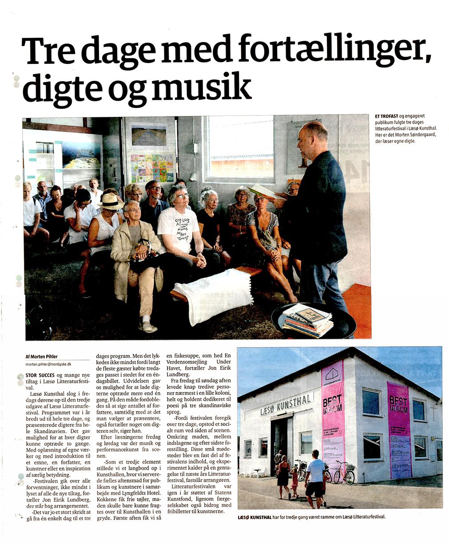 Læsø Litteraturfestival i Læsø Posten 06.08.2014