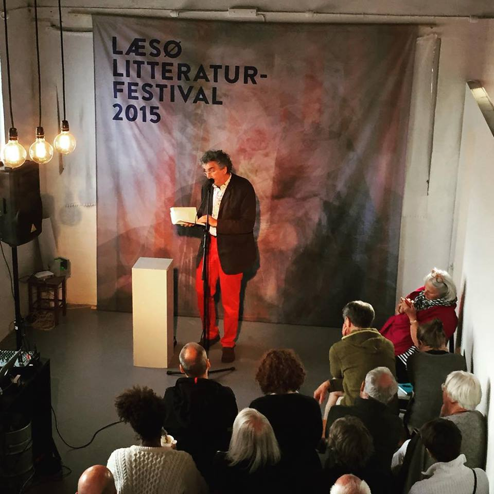 Asger Schnack, Læsø Litteraturfestival 2015. Photo: Jan Hurtigkarl