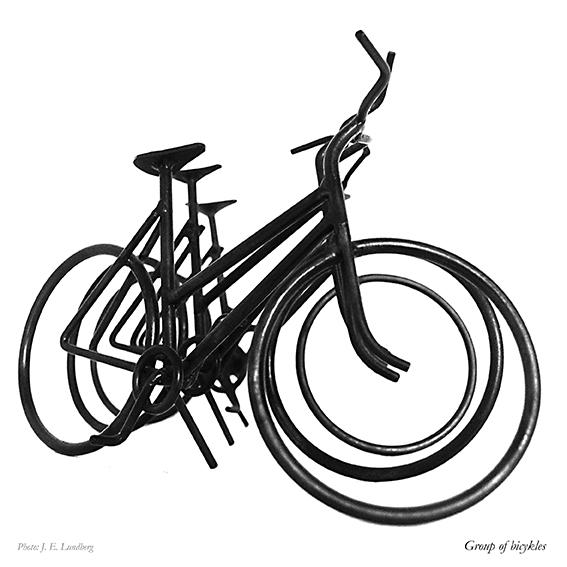 Cykler. Bicycles. Photo: Jon Eirik Lundberg