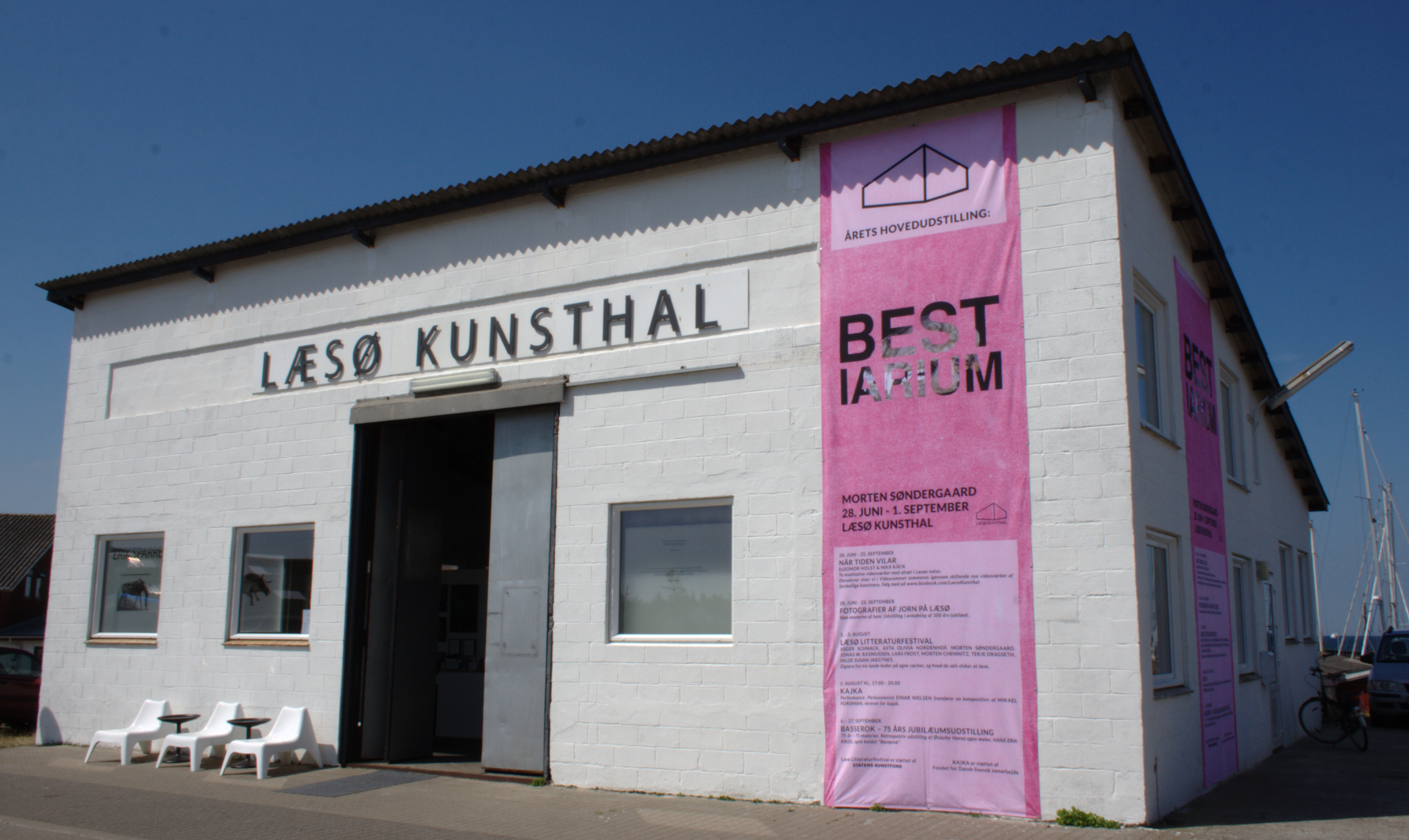 Læsø Kunsthals facade sommeren 2014