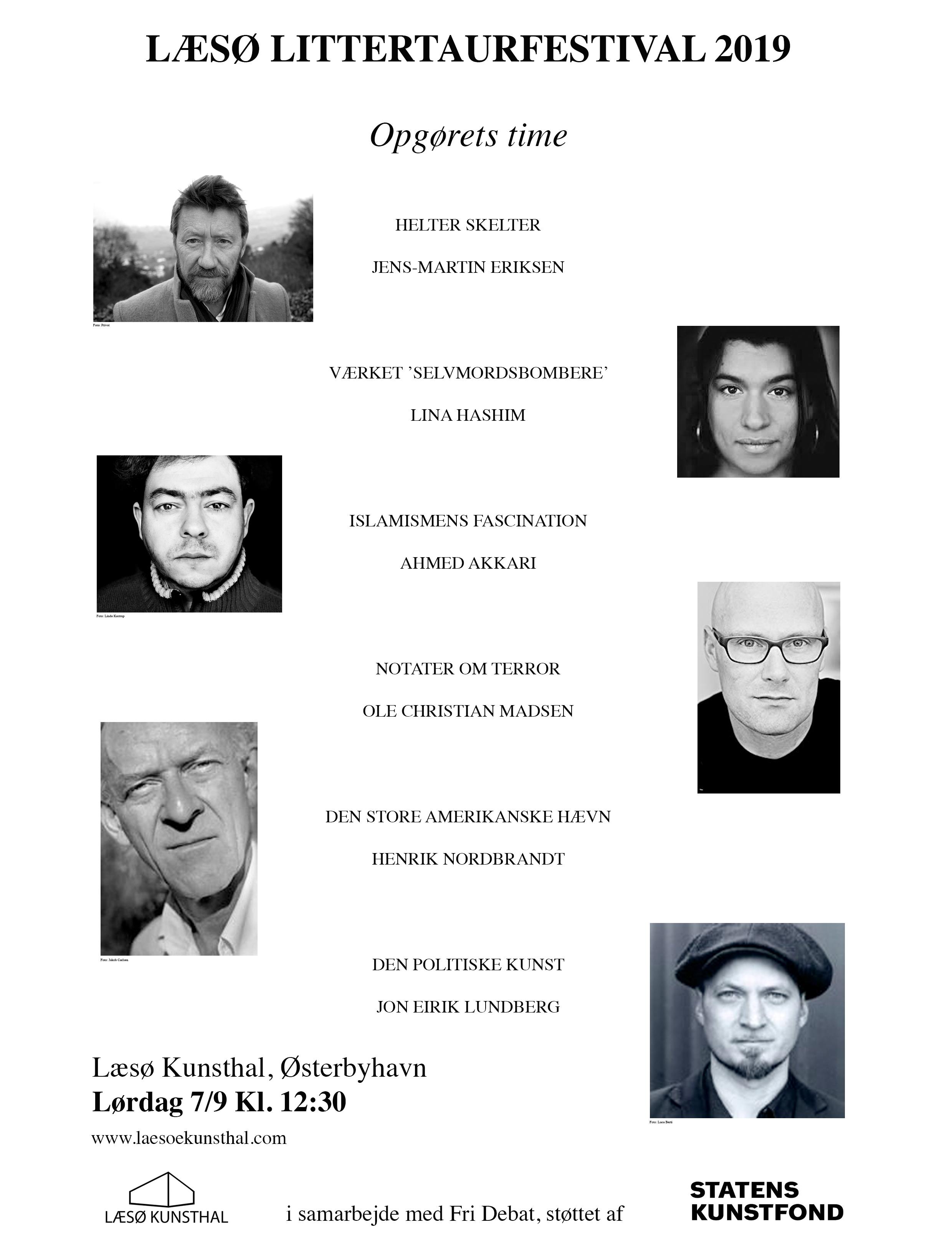 Plakat for Læsø Litteraturfestival 2019
