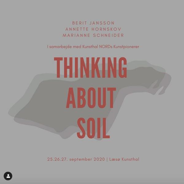 Plakat for projektet Thinking about soil